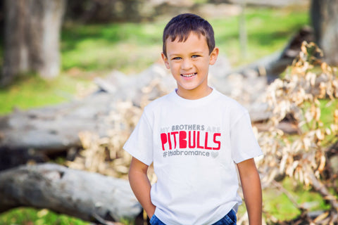 Kids T-shirt - My Brothers Are Pitbulls