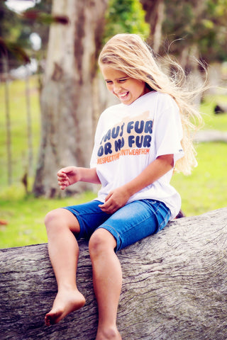 Kids T-shirt - Faux Fur Or No Fur