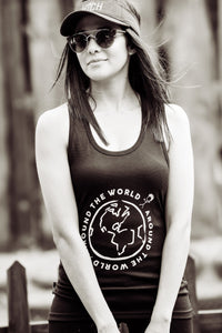 Ladies Racerback Gym Vest - Around The World Around The World