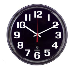 12 Inch Black Face Clock