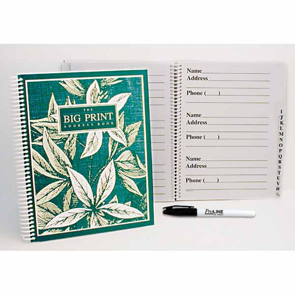 Big Print Address Book with ProLINE Felt Tip Pen