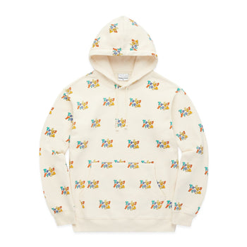 Retro Logo Print All Over Hoodie