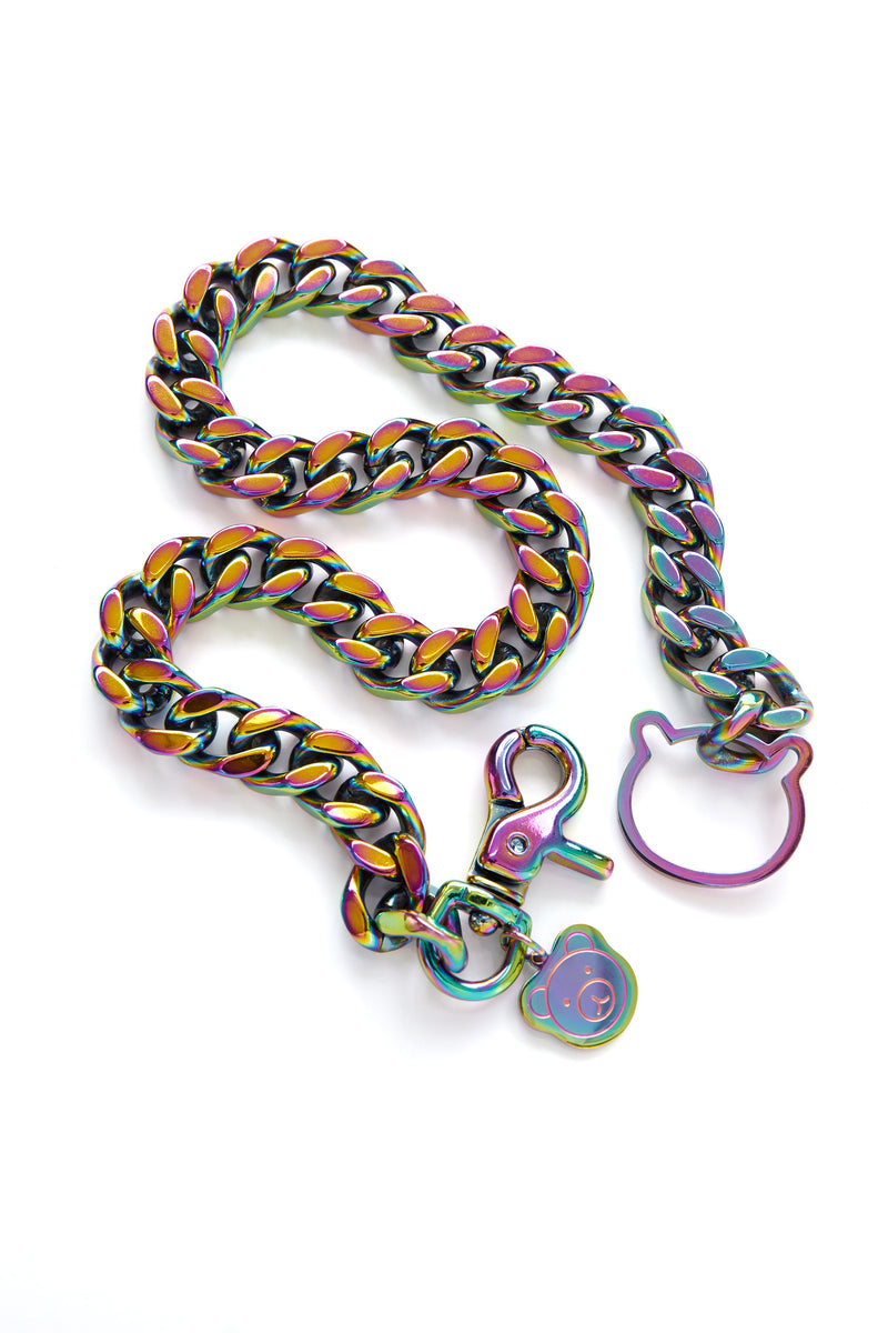 Iridescent Cuban Chain Necklace