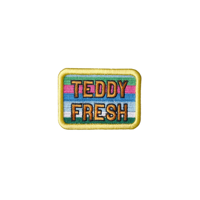 Stripe Teddy Fresh Embroidery Patch