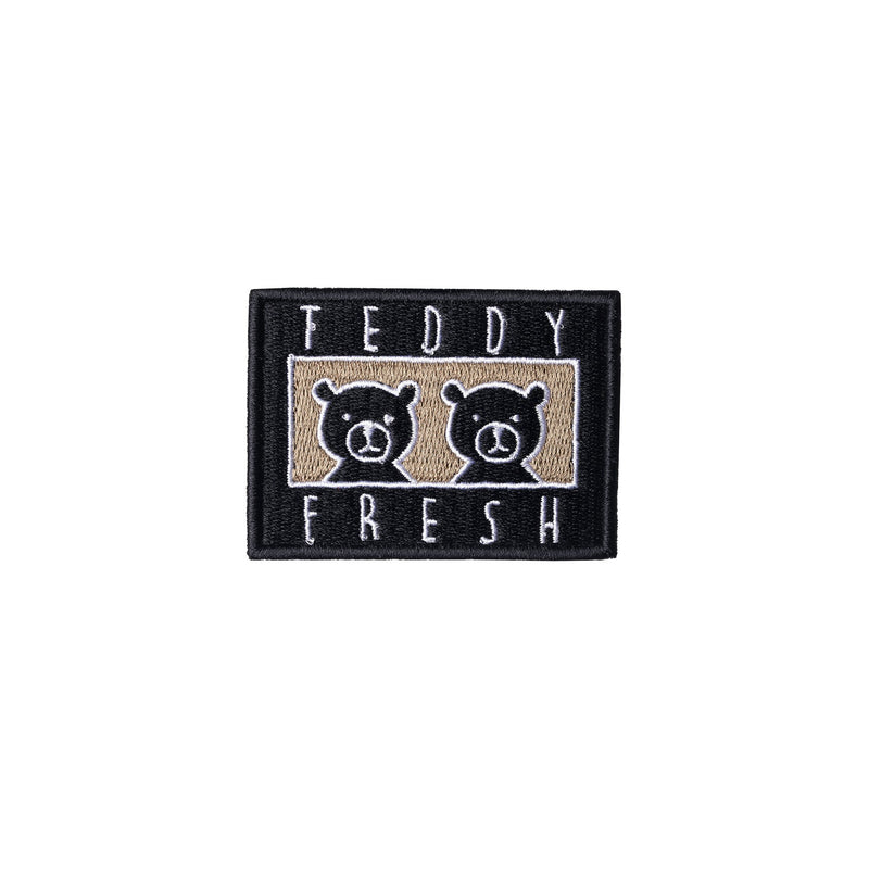 Two Teds Black Embroidery Patch