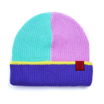 Color Block Oversized Reversible Beanie