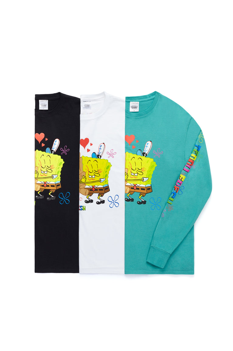 TF x SpongeBob Bear Hug Long Sleeve T-Shirt