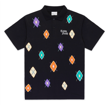 Argyle Applique Polo