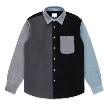 Corduroy Color Block Button Up