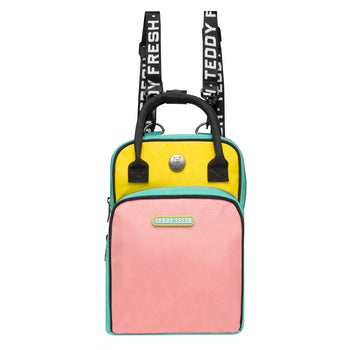 Color Block Mini Backpack Bag