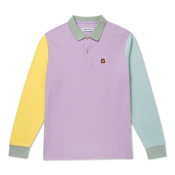 Bear Patch Long Sleeve Polo