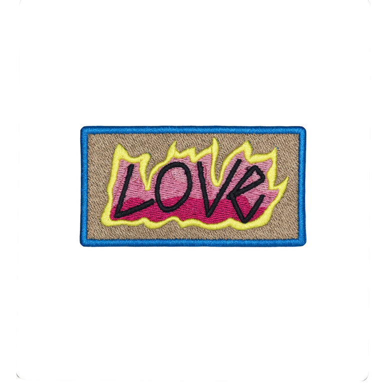 love embroidered patch