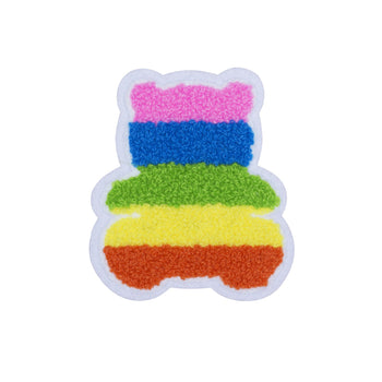 Rainbow Chenille Bear Patch