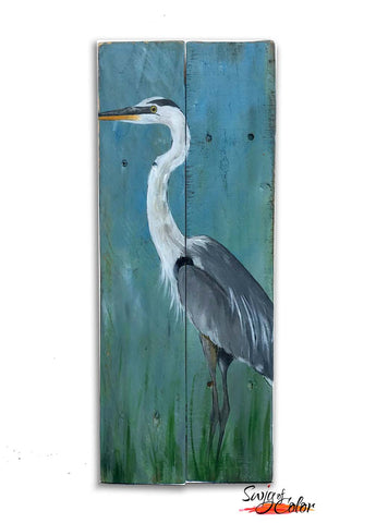 "Sailfish Brewery Sip and Paint - ""Blue Heron"" Pallet"