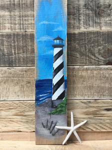 Rustic Lighthouse Pallet Sign