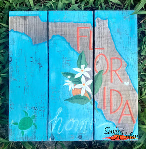 "Sip and Paint - ""Florida"" pallet board sign"