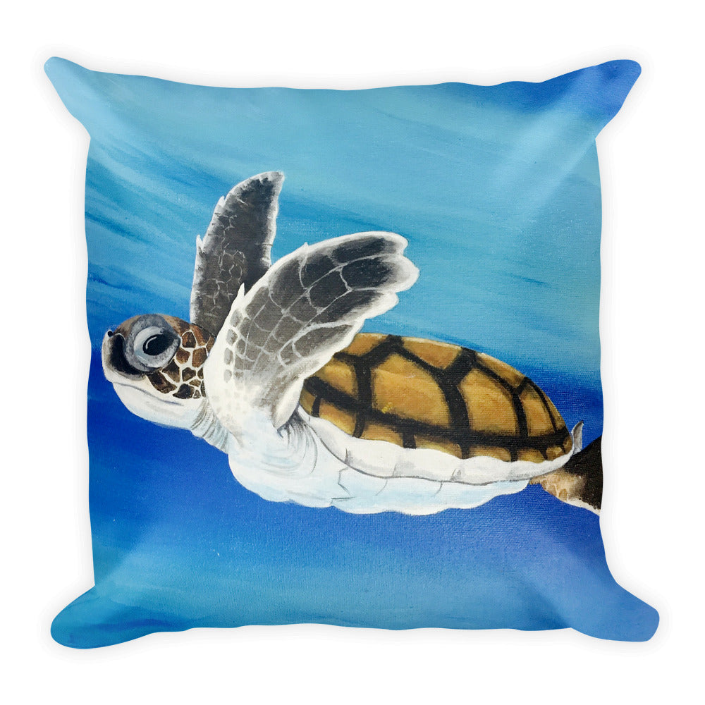 Baby Sea Turtle Pillow