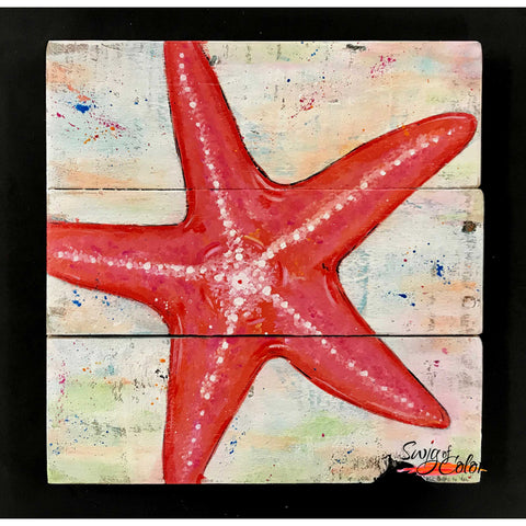 "Sailfish Brewery Sip and Paint - ""Starfish"" pallet board sign"