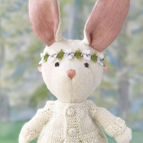 Penelope Rabbit in Knit Sweater and Firefly Tutu