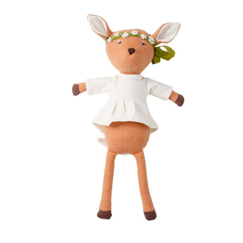 Phoebe Fawn in Natural Tunic and Flower Crown