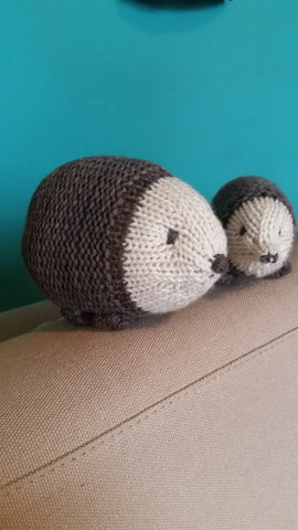 100% Organic Wool Hedgehogs