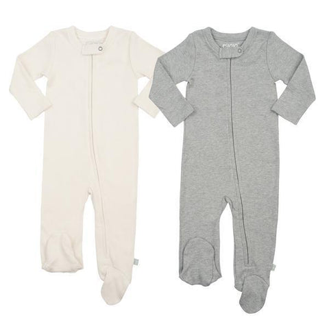 2 Piece Zipper Footie Set