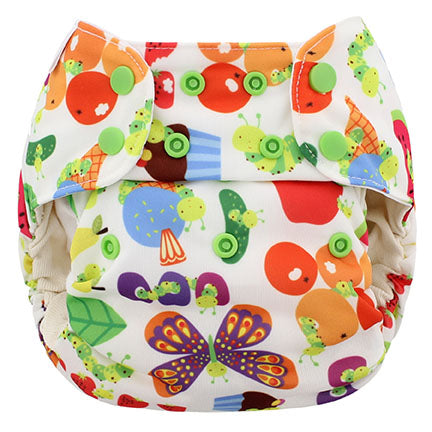 Organic One Size Simplex All In One Diaper w/ Stay Dry Soaker