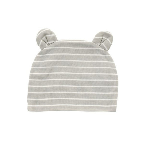 Silver Cloud Stripe Beanie