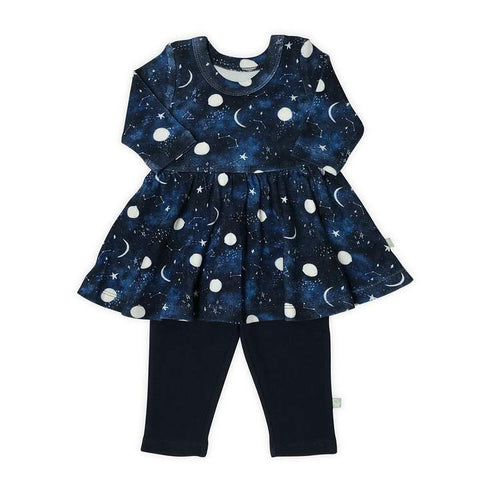 Galaxy Twirl Dress and Leggings