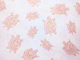 Fitted Crib Sheets in Turtle Print