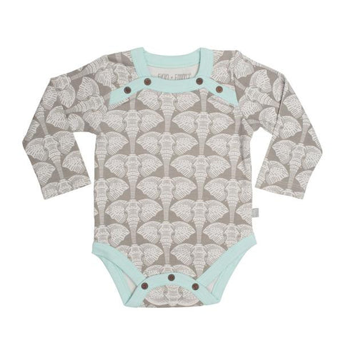 Long-sleeve Elephant Onesie