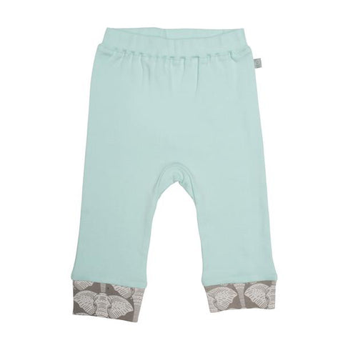 Gossamer Green Pants with Elephant Trim