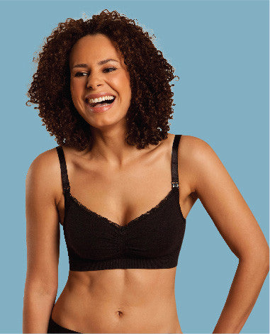 Seamless Organic Nursing Bra - Black