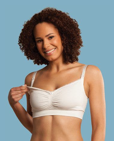 Seamless Organic Nursing Bra - Natural