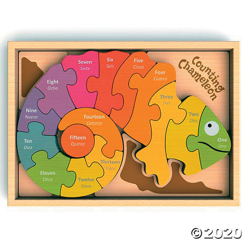 Bilingual Counting Chameleon Puzzle