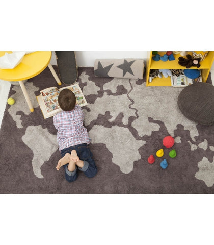 Washable Rug - World Map