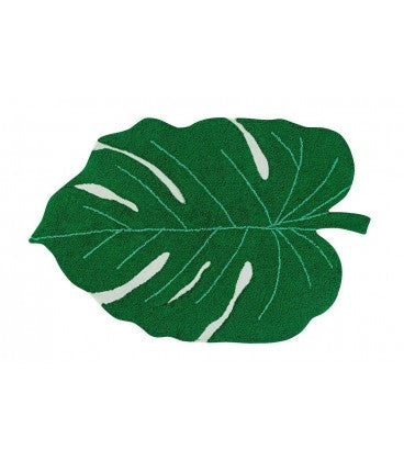 Washable Rug Monstera Leaf -Multiple Color Choices