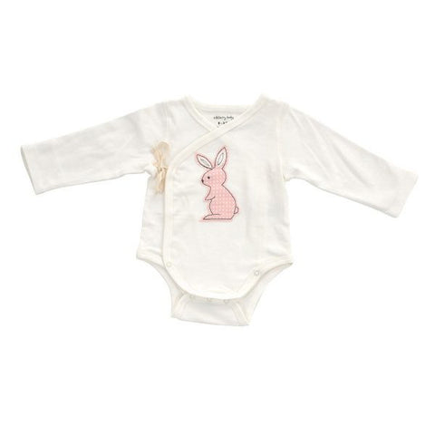 Organic Cotton Kimono-Onesie for Newborns