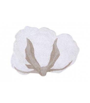 Washable Rug Cotton Flower