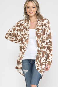 Brown Cow Dolman Cardigan