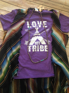 Purple Love My Tribe Tee