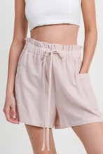 Pin Striped Cotton Shorts