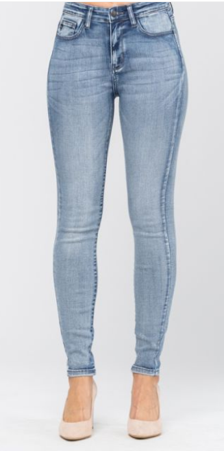 High Rise Light Wash Skinny Jeans