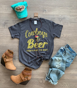 Cowboys and Beer Tee