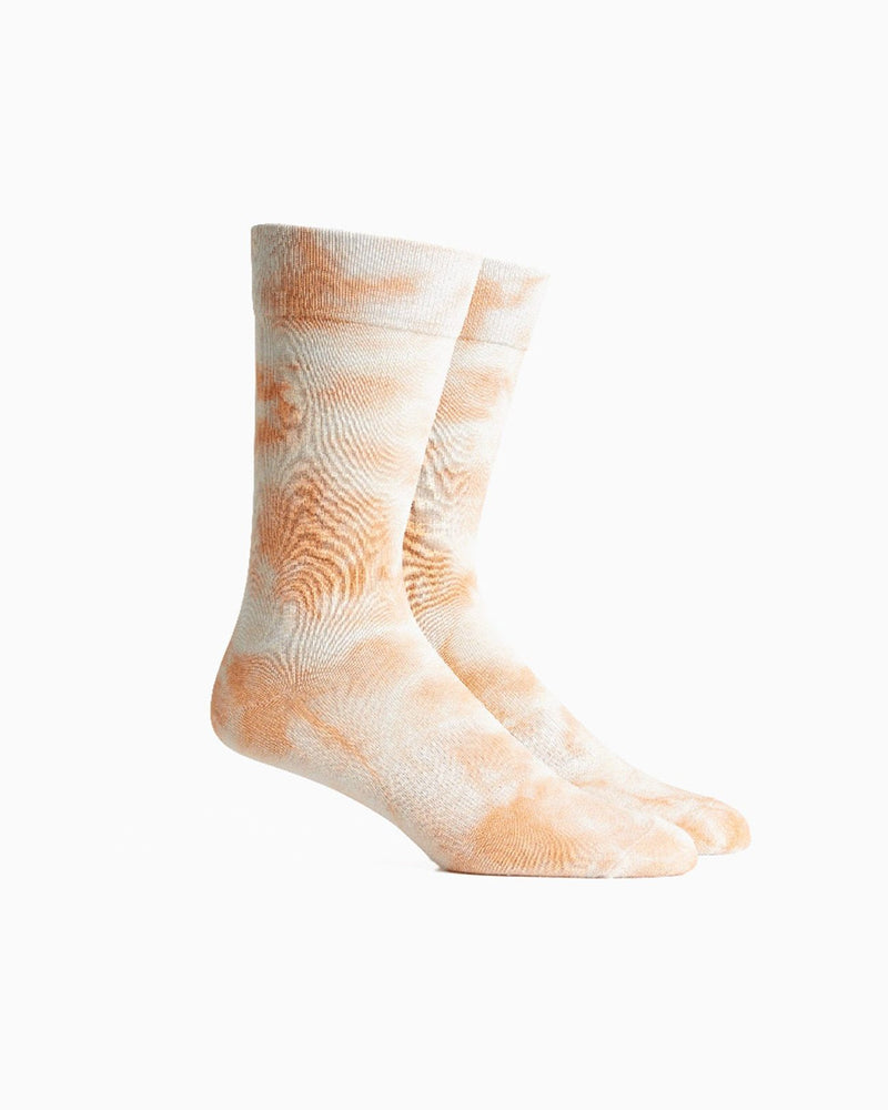 Soaked In Tie Dye Socks- Cantaloupe