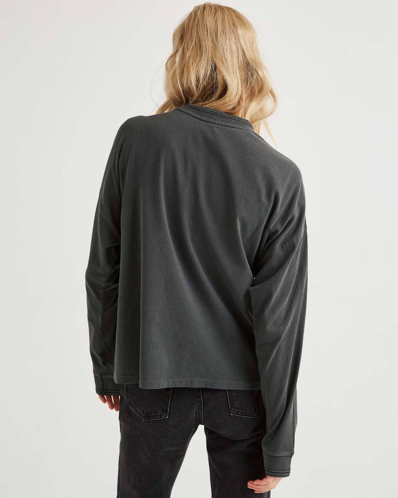 Relaxed Long Sleeve Pullover - Stretched Limo