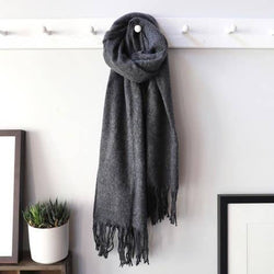 Dark Grey Lambwool Scarf