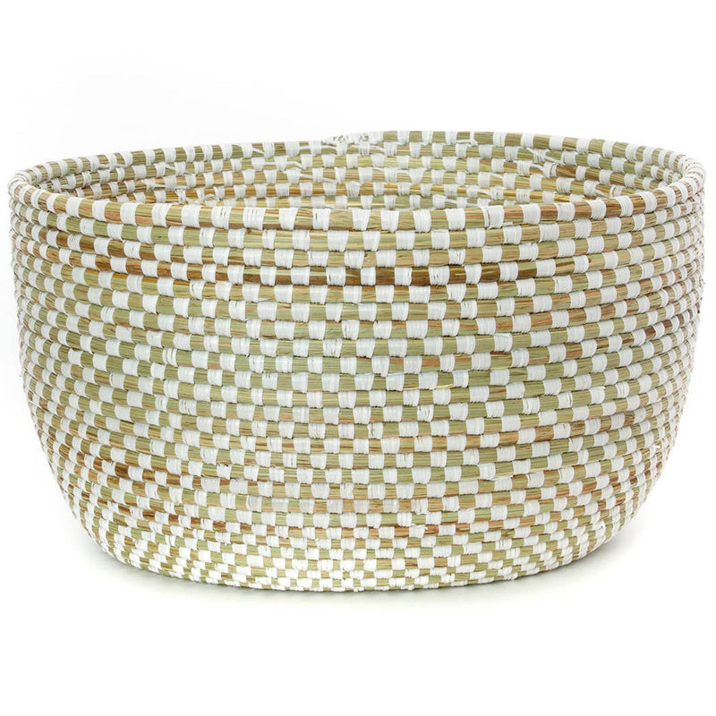 White Checkerboard Basket