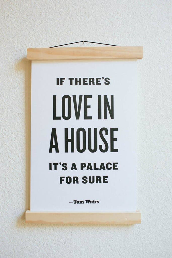 If There's Love in a House letterpress