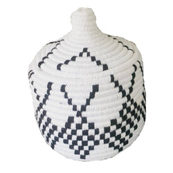 Black and White Woven Basket